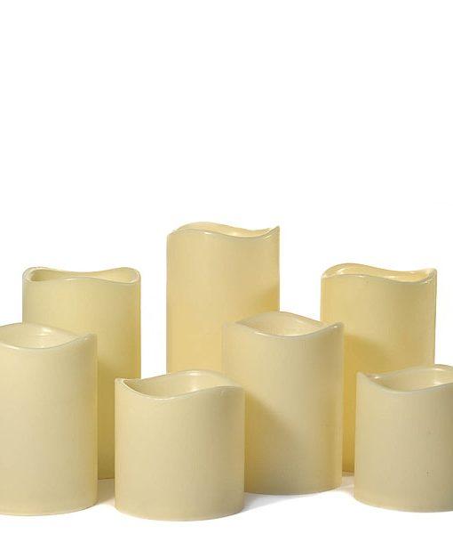 LED 7 Piece Pillar Candle Set