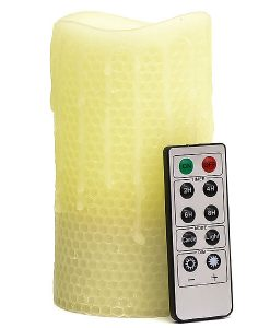 Remote Control 3 x 6 LED Candles Honeycomb
