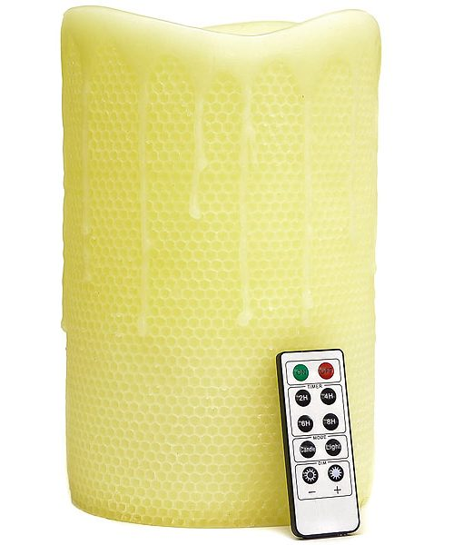 Remote Control 6 x 10 LED Candles Honeycomb