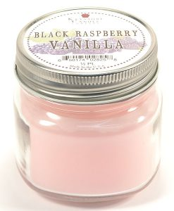 Half Pint Mason Jar Candle Black Raspberry Vanilla