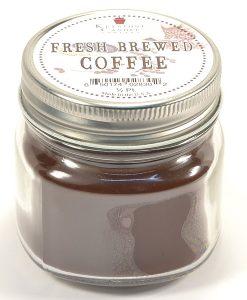 Half Pint Mason Jar Candle Fresh Brewed Coffee