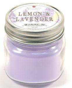 Half Pint Mason Jar Candle Lemon and Lavender