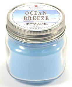 Half Pint Mason Jar Candle Ocean Breeze