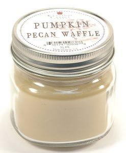 Half Pint Mason Jar Candle Pumpkin Pecan Waffle
