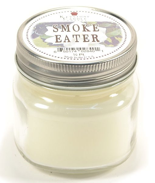 Half Pint Mason Jar Candle Smoke Eater