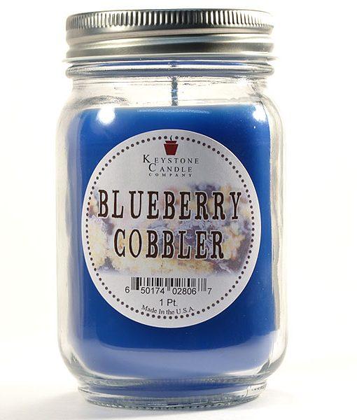 Pint Mason Jar Candle Blueberry Cobbler