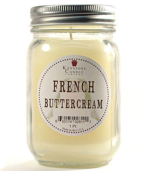 Pint Mason Jar Candle French Butter Cream
