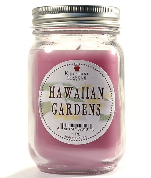 Pint Mason Jar Candle Hawaiian Gardens