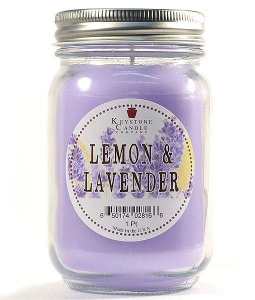 Pint Mason Jar Candle Lemon and Lavender