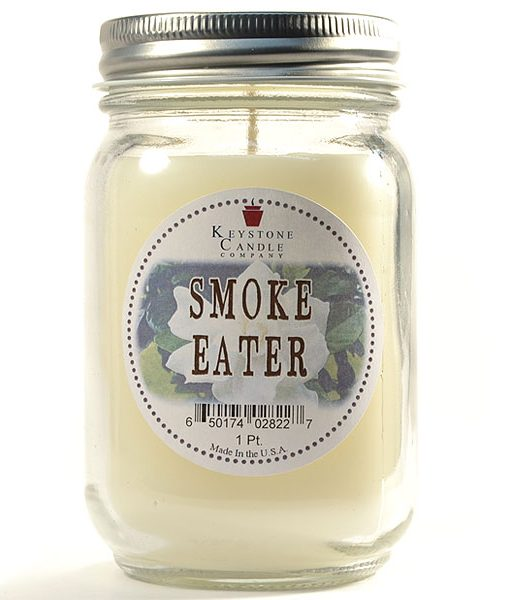 Pint Mason Jar Candle Smoke Eater