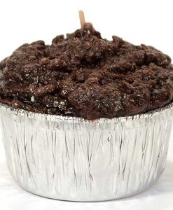 Muffin Shaped Candle Double Chocolate Fudge