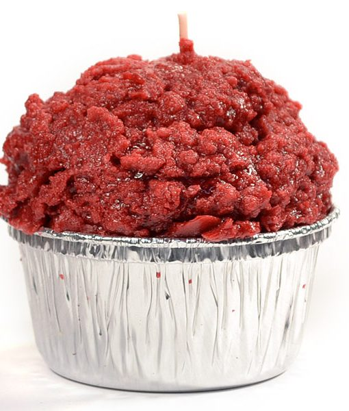 Muffin Shaped Candle Red Velvet Cake