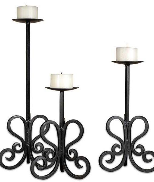 Set of 3 Paisley Pillar Holders