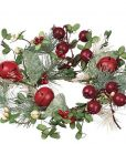 Pine Berry Bells Candle Rings 4.5 Inch