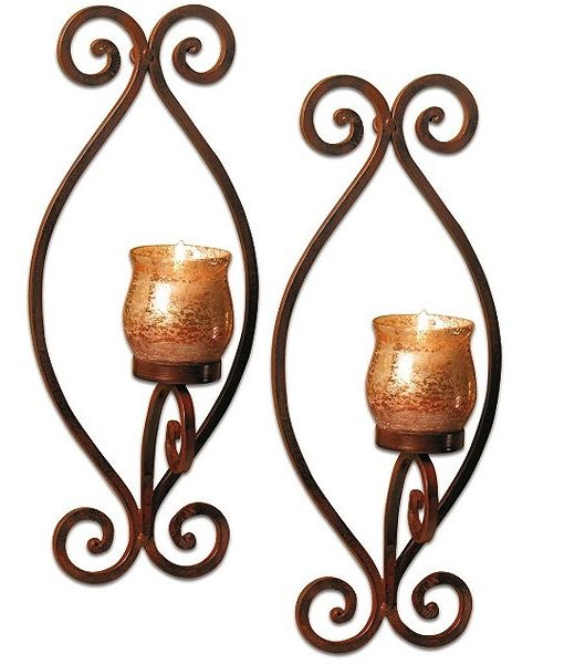 Set of 2 Rustica Wall Sconces