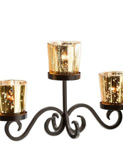 Champagne Votive Centerpiece Set