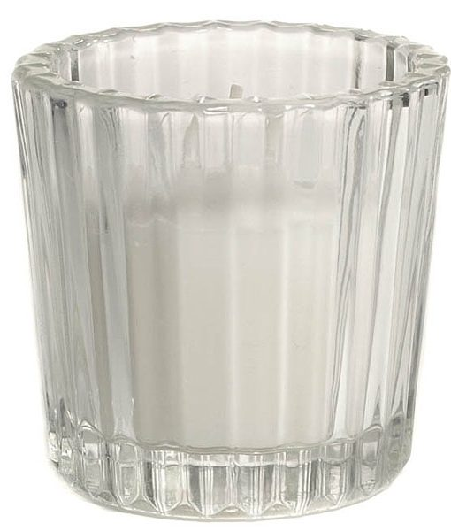 Ribbed Votive Cup Short Clear