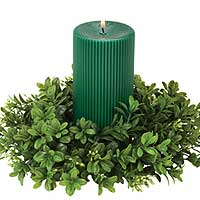Boxwood 4.5 Inch Candle Rings
