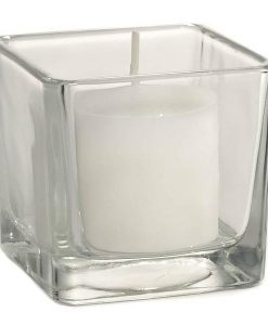Votive Candle Holder Clear Square