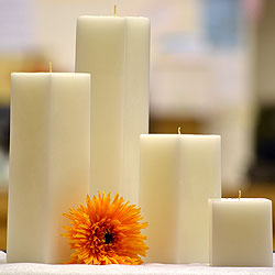 3 Inch White Square Candles