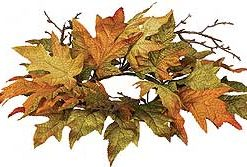 Maple Leaf Candle Ring 4.5 Inch