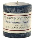 Textured 3 x 3 Midsummer Night Pillar Candles