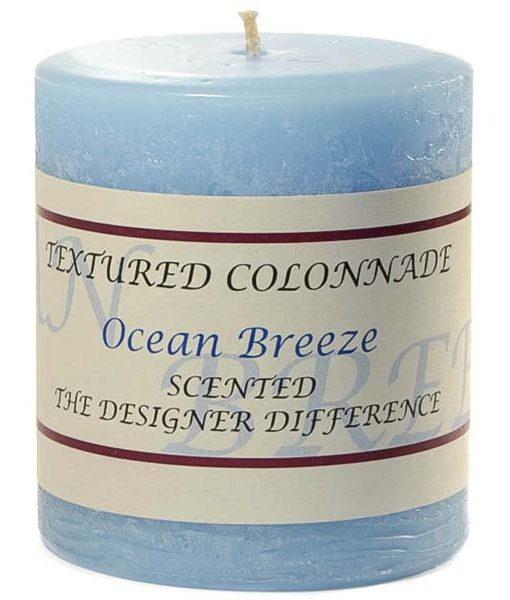 Textured 3 x 3 Ocean Breeze Pillar Candles