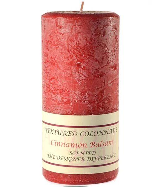 Textured 4 x 9 Cinnamon Balsam Pillar Candles