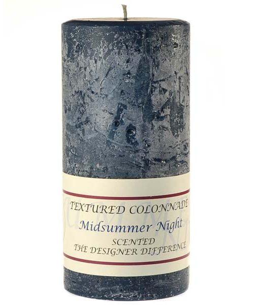 Textured 4 x 9 Midsummer Night Pillar Candles