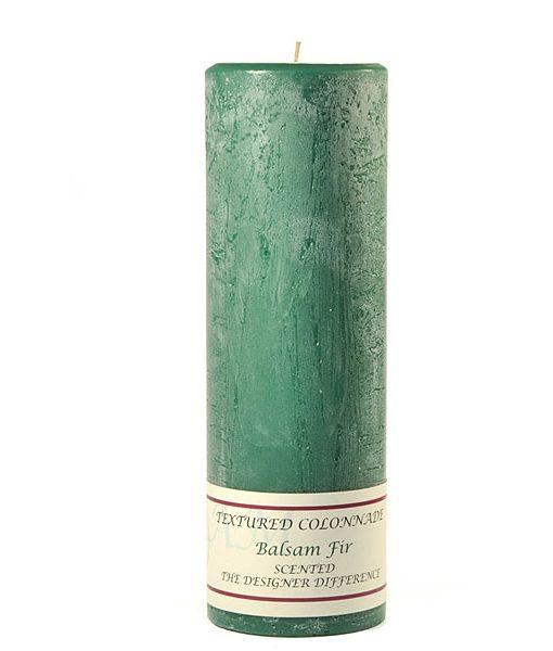 Textured 3 x 9 Balsam Fir Pillar Candles