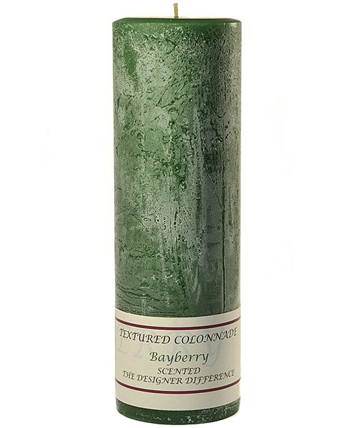 Textured 3 x 9 Bayberry Pillar Candles