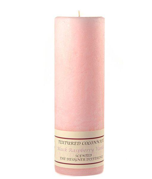 Textured 3 x 9 Black Raspberry Vanilla Pillar Candles