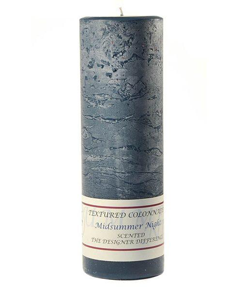 Textured 3 x 9 Midsummer Night Pillar Candles