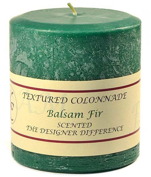 Textured 4 x 4 Balsam Fir Pillar Candles