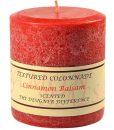 Textured 4 x 4 Cinnamon Balsam Pillar Candles