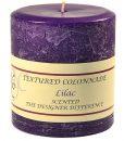 Textured 4 x 4 Lilac Pillar Candles