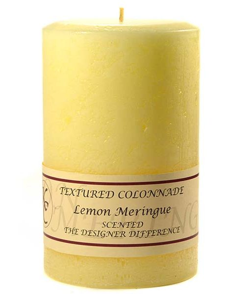 Textured 4 x 6 Lemon Meringue Pillar Candles