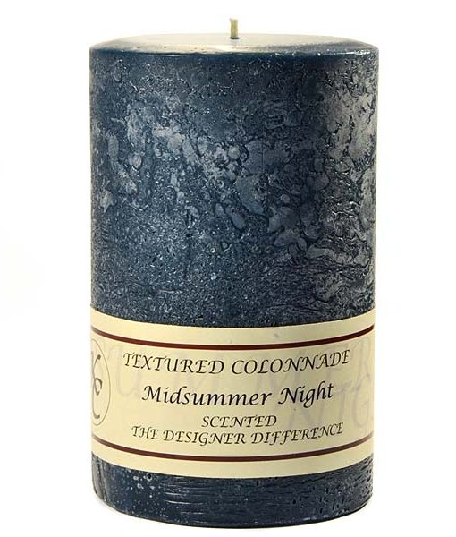 Textured 4 x 6 Midsummer Night Pillar Candles