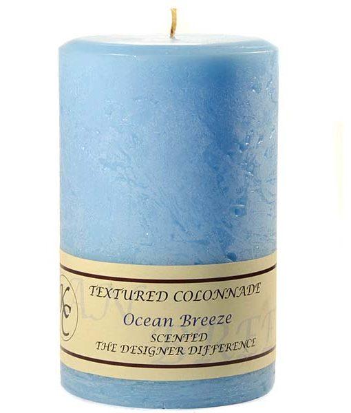 Textured 4 x 6 Ocean Breeze Pillar Candles