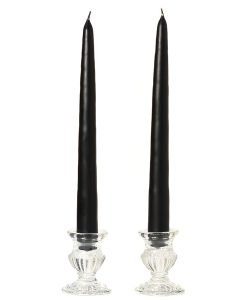 10 Inch Black Tapers - Unscented