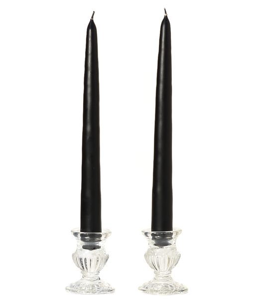 10 Inch Black Tapers – Unscented