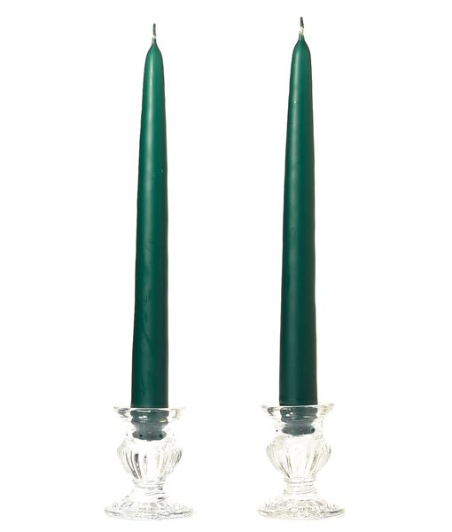 15 Inch Hunter Green Tapers – Unscented