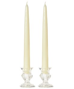 10 Inch Ivory Tapers - Unscented