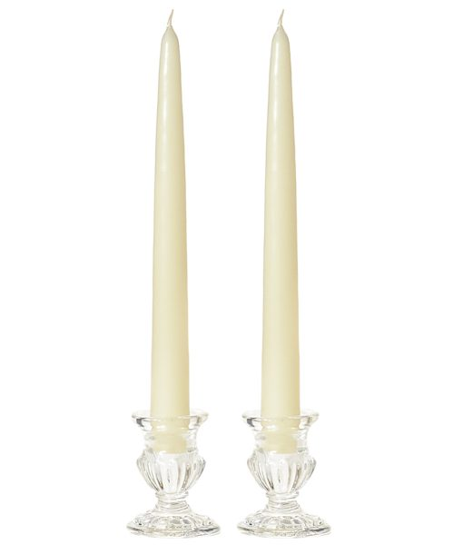 15 Inch Ivory Tapers – Unscented