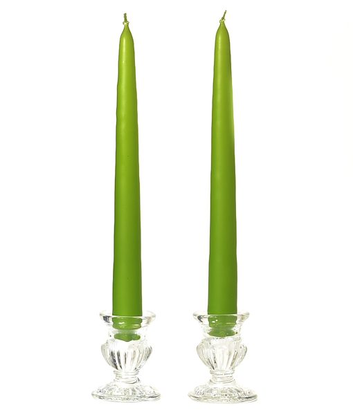 8 Inch Lime Green Tapers – Unscented