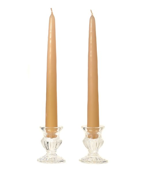 8 Inch Parchment Tapers – Unscented