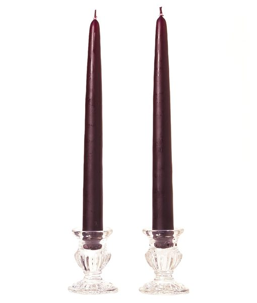 10 Inch Plum Tapers – Unscented
