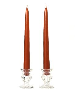 10 Inch Terracotta Tapers - Unscented