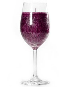 Wine Glass Merlot Scented Candle